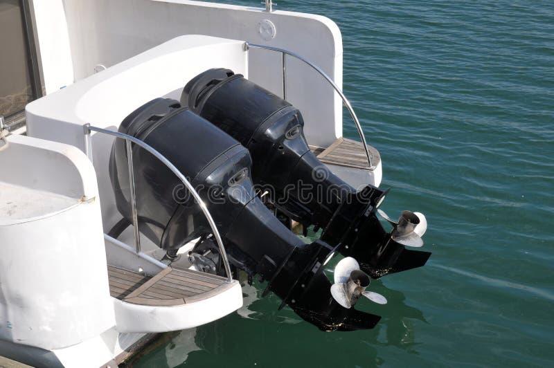 Motores del barco de la velocidad fotografía de archivo libre de regalías