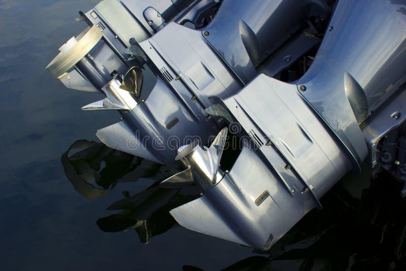 Motores del barco externo imagen de archivo libre de regalías