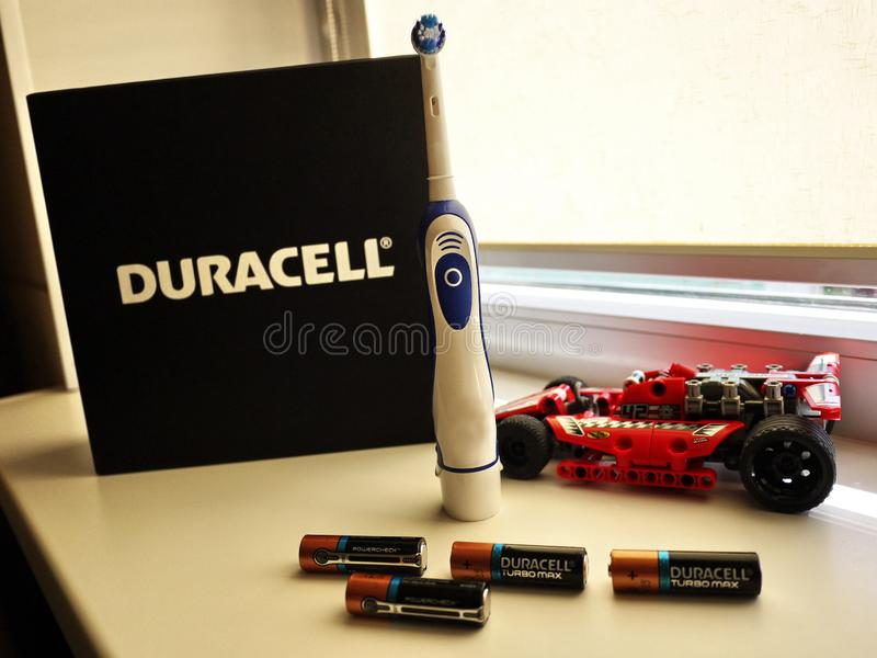 motorförbundetbatterier skriver, utrustning- och tillbehördetaljer och närbilden och närbilden arkivfoton