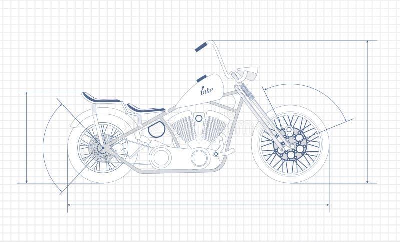 Motorfiets, stock illustratie