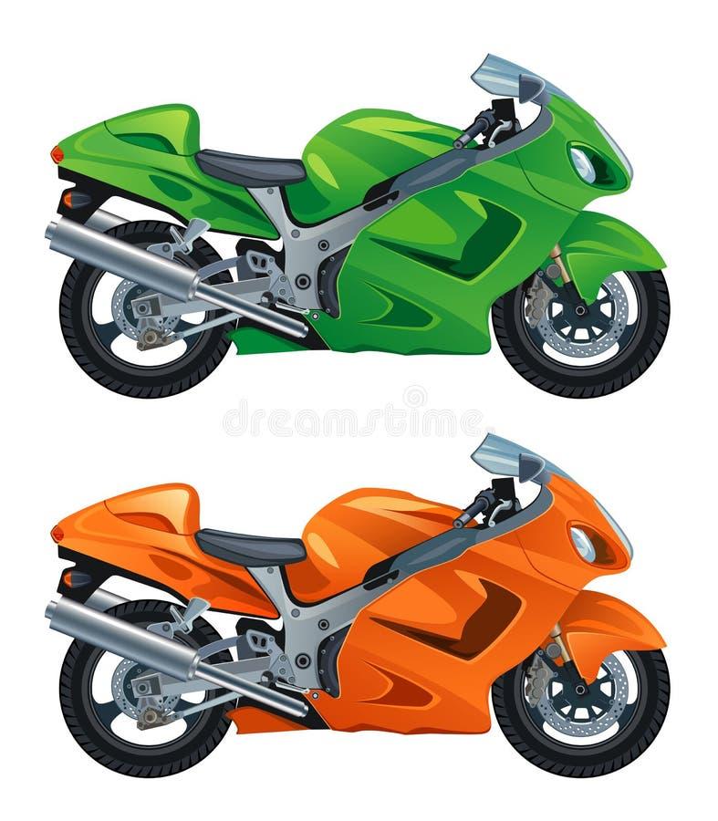 Motorfiets royalty-vrije illustratie