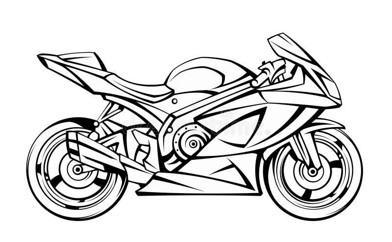 Motorfiets stock illustratie