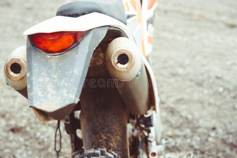 Motorfiets achterlicht royalty-vrije stock fotografie
