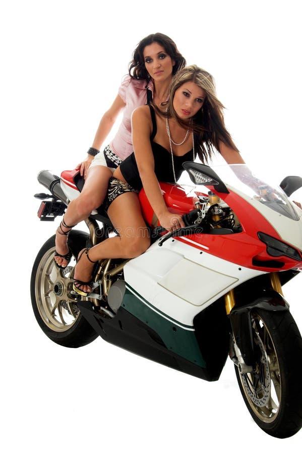 Motorfiets Hotties stock foto