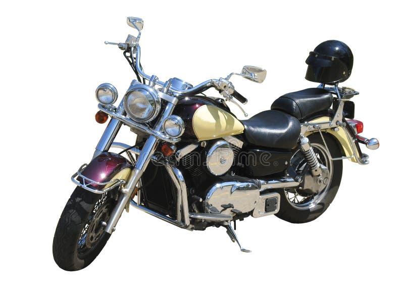 Motorfiets op wit royalty-vrije stock afbeeldingen