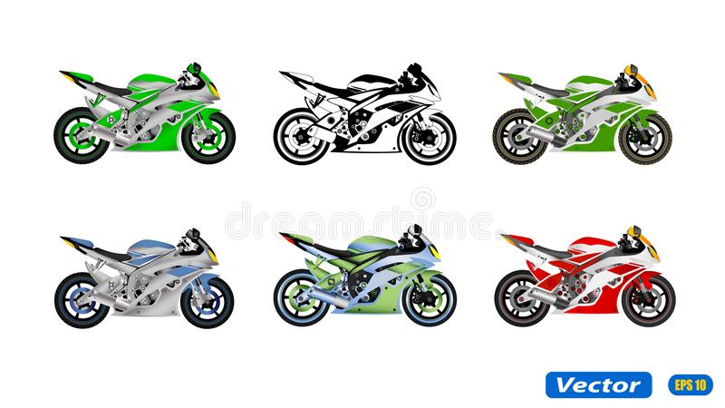 MOTORFIETS IN VECTOR royalty-vrije illustratie
