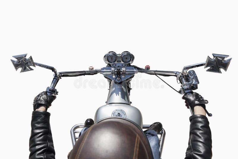 Motorfietsbestuurder stock afbeelding