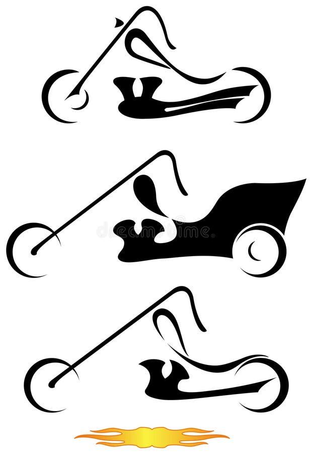 Motorfietsen. stock illustratie