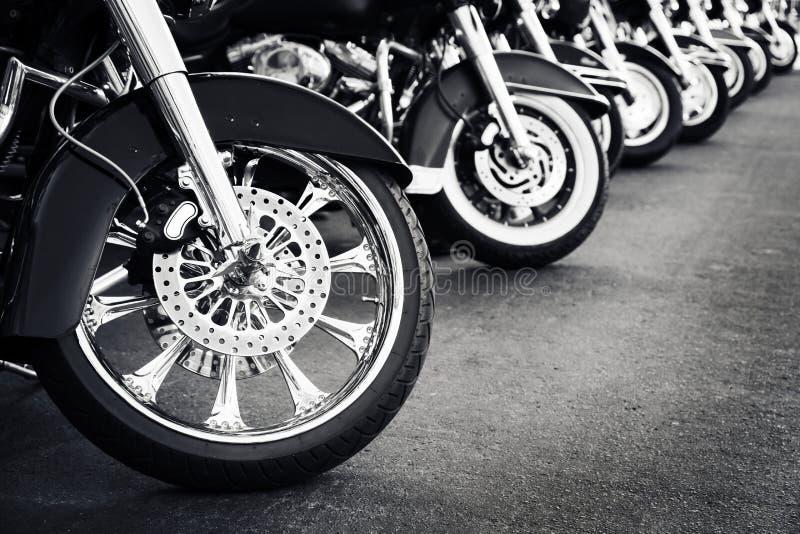 Motorfietsen het parkeren royalty-vrije stock foto