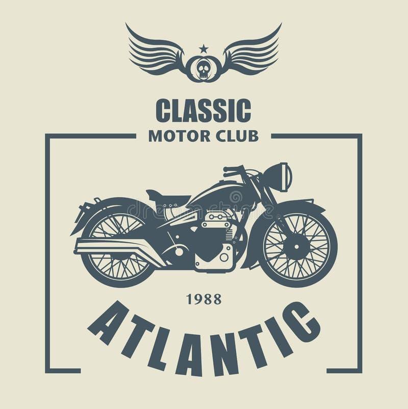 Motorfietsetiket vector illustratie