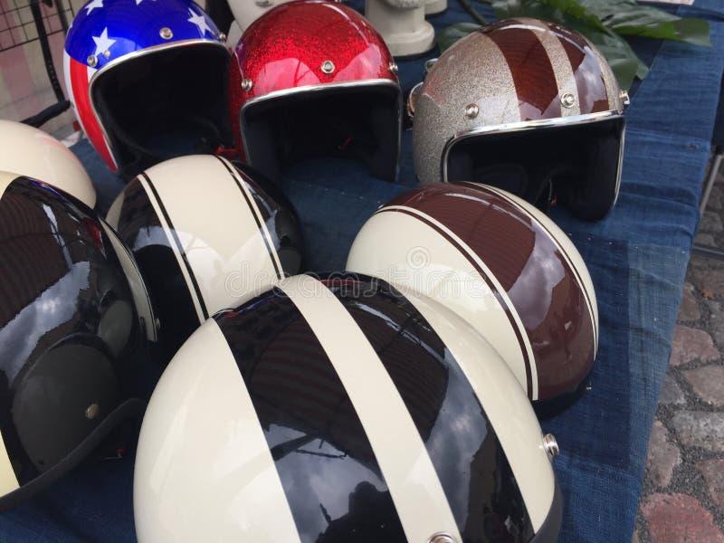 Motorfietshelmen royalty-vrije stock afbeelding