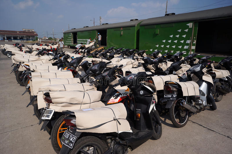 Motorfietspakage royalty-vrije stock foto