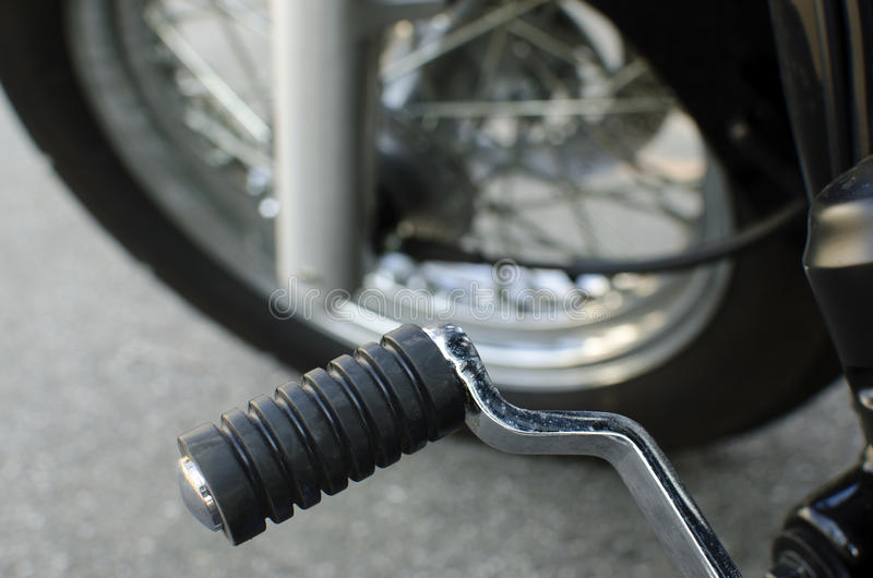 Motorfietspedaal stock foto's
