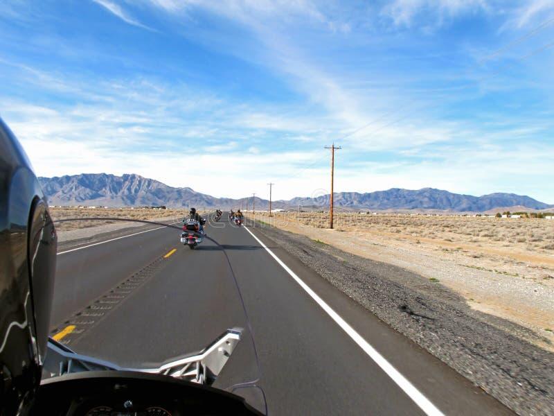 Motorfietsrit stock afbeelding