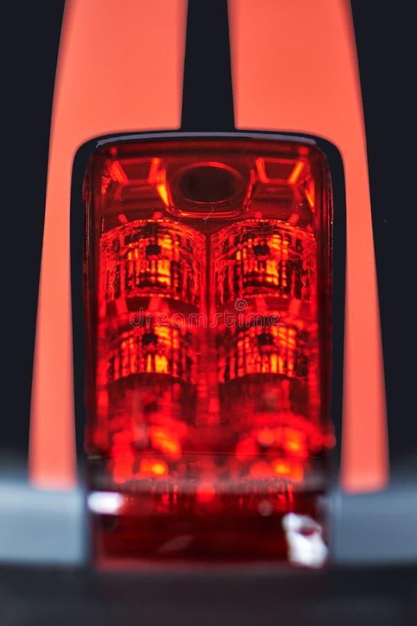 Motorfietsstoplicht stock afbeeldingen