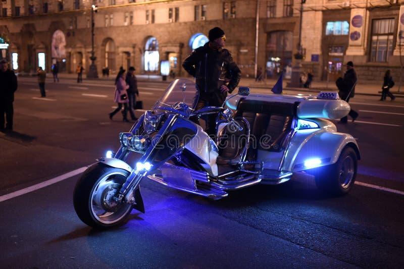 Motorfietstaxi stock afbeelding