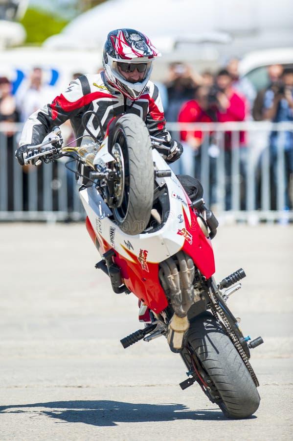 Motorfietstentoonstelling in Boekarest royalty-vrije stock afbeeldingen