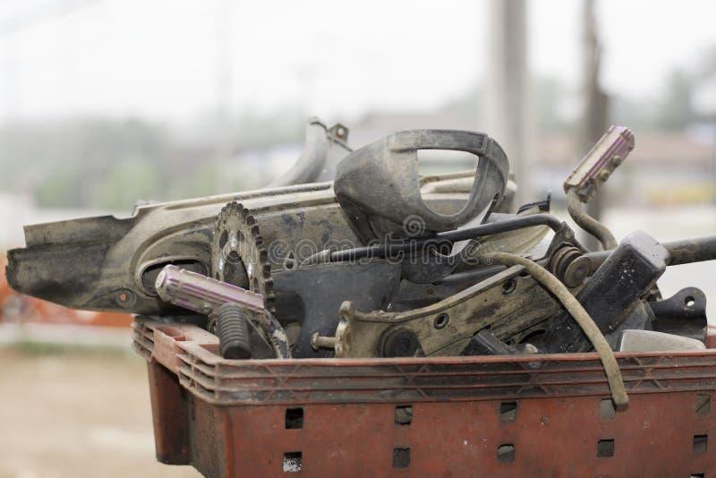 Motorfietsvervangstukken stock afbeeldingen