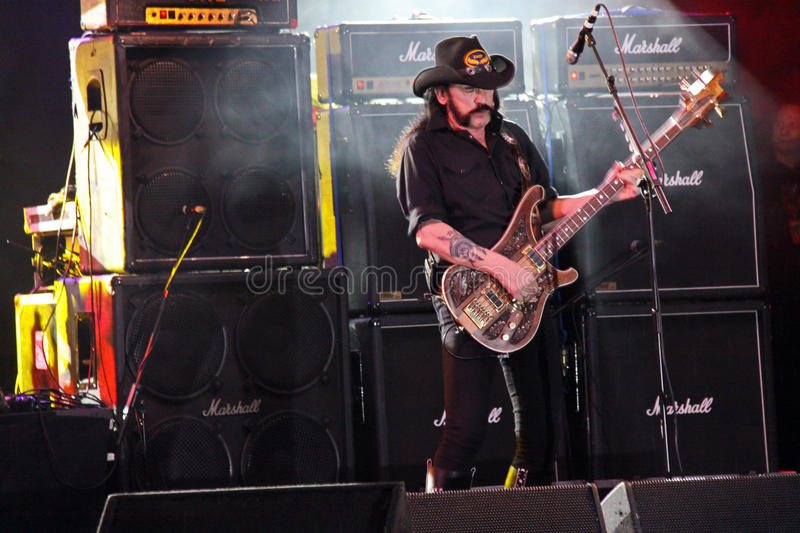 Motorhead heavy metal rock band on stage stock photo