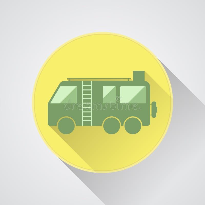 Motorhome露营者货车传染媒介象 平的设计 库存例证