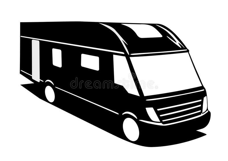 Motorhome ilustración del vector