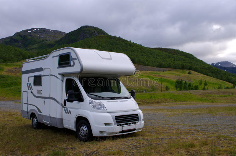 Download Motorhome/ Camper Going On Vacation Over Scandinavia Stock Photography - Image: 28240602