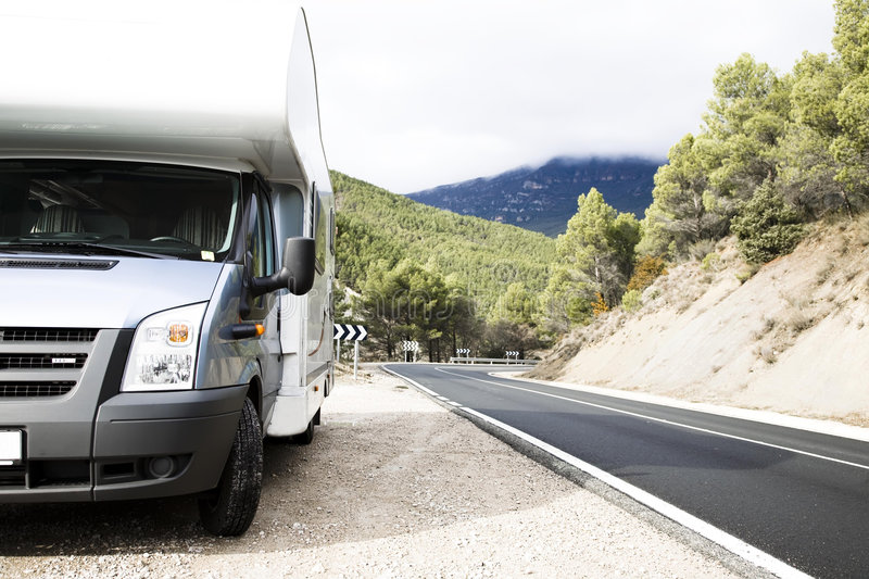 Download Motorhome Near The Road stock photo. Image of landscape - 7861038
