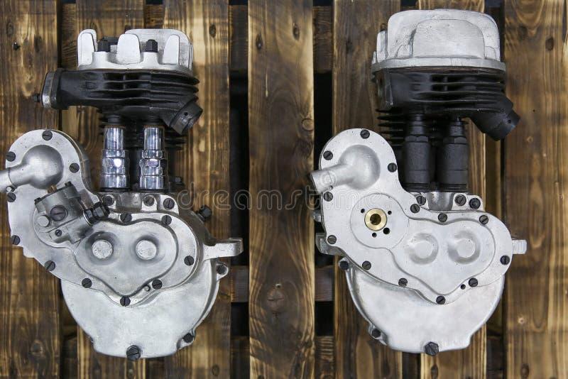 Motori a combustione interna per motocicli fotografie stock libere da diritti