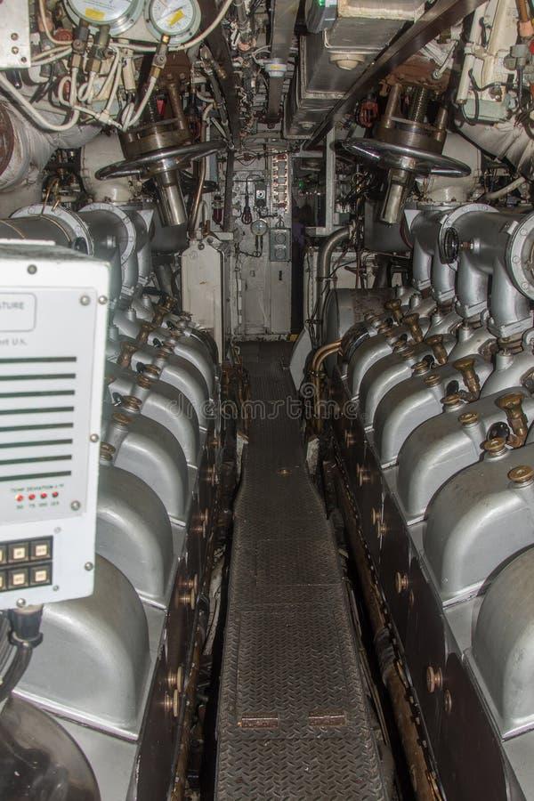Motori diesel dell'ozelot di HMS fotografia stock