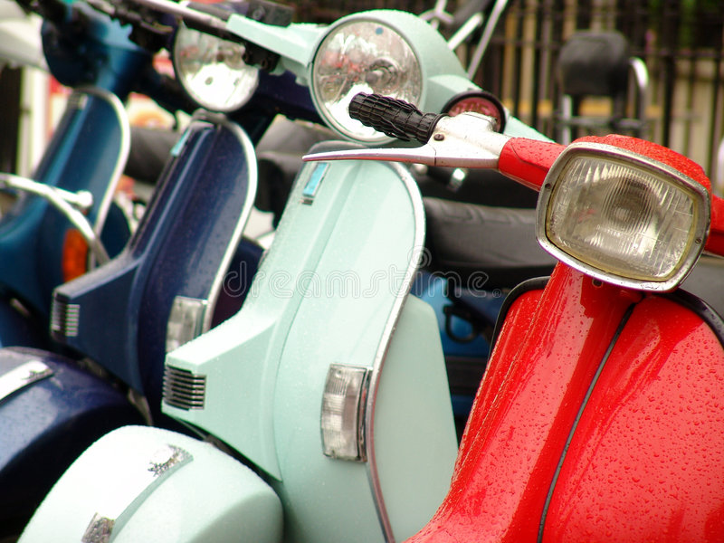 Motorini di motore fotografie stock