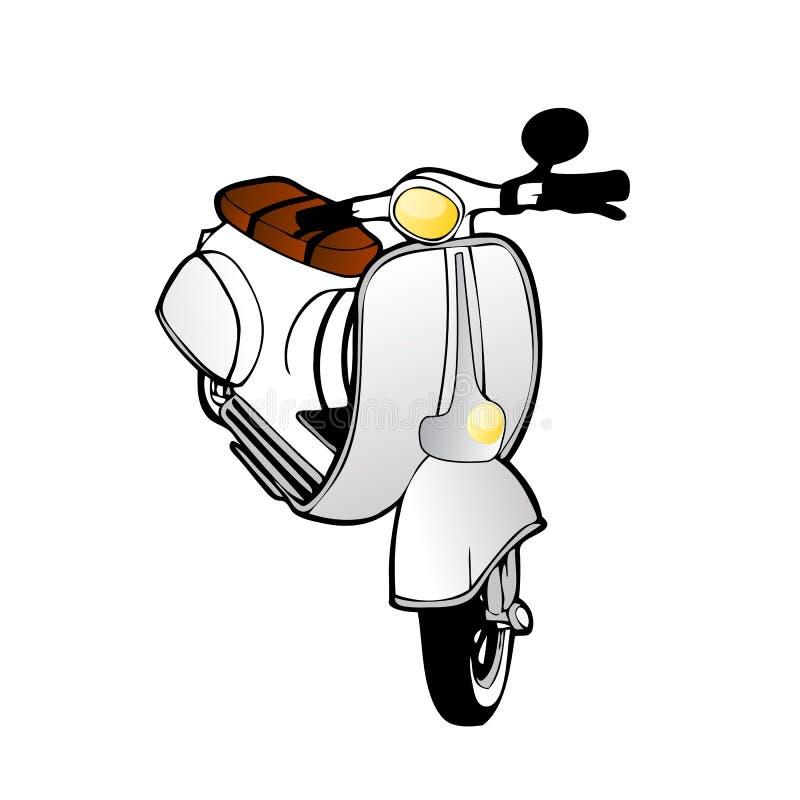 Motorino dell'annata di vettore illustrazione vettoriale