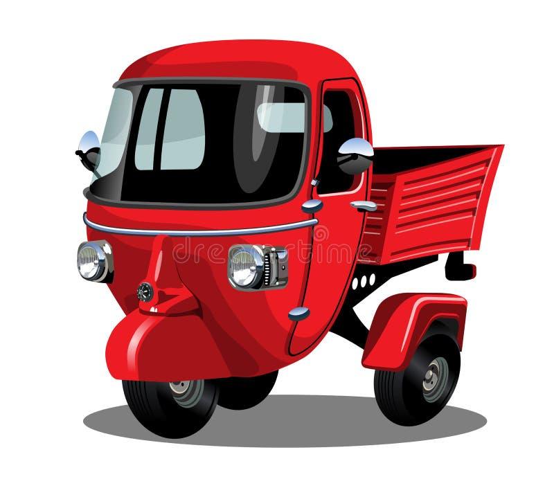 Motorino di consegna del fumetto di vettore isolato su bianco illustrazione di stock