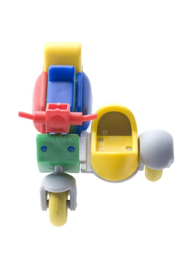 Motorino di motore con un carrello fotografie stock