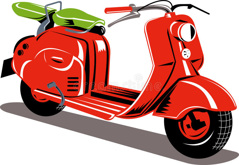 Motorino di motore rosso royalty illustrazione gratis