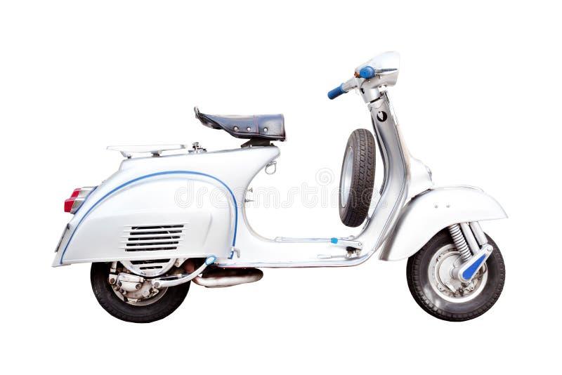Motorino italiano classico come siluetta immagini stock