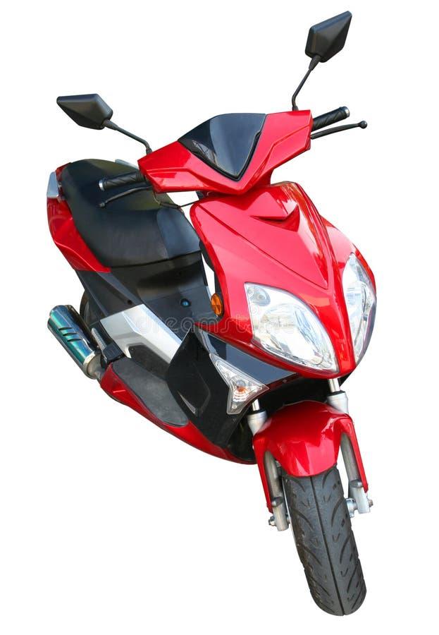 Motorino rosso fotografie stock libere da diritti