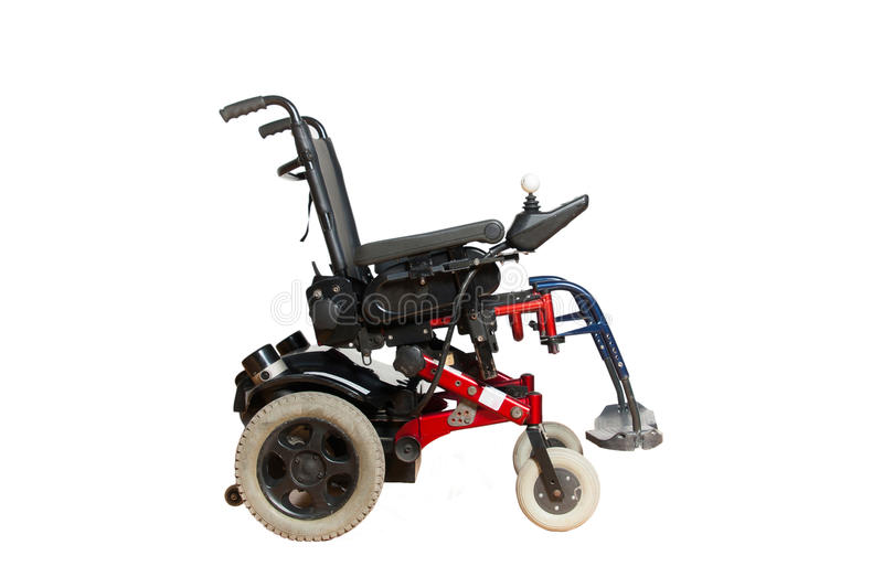 Motorised wheelchair for disposable people royalty free stock images