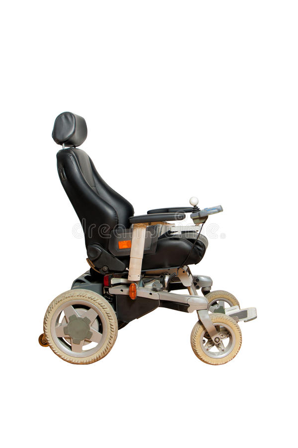 Free Motorised Wheelchair With Ball Controller For Disposable People Royalty Free Stock Images - 75993059