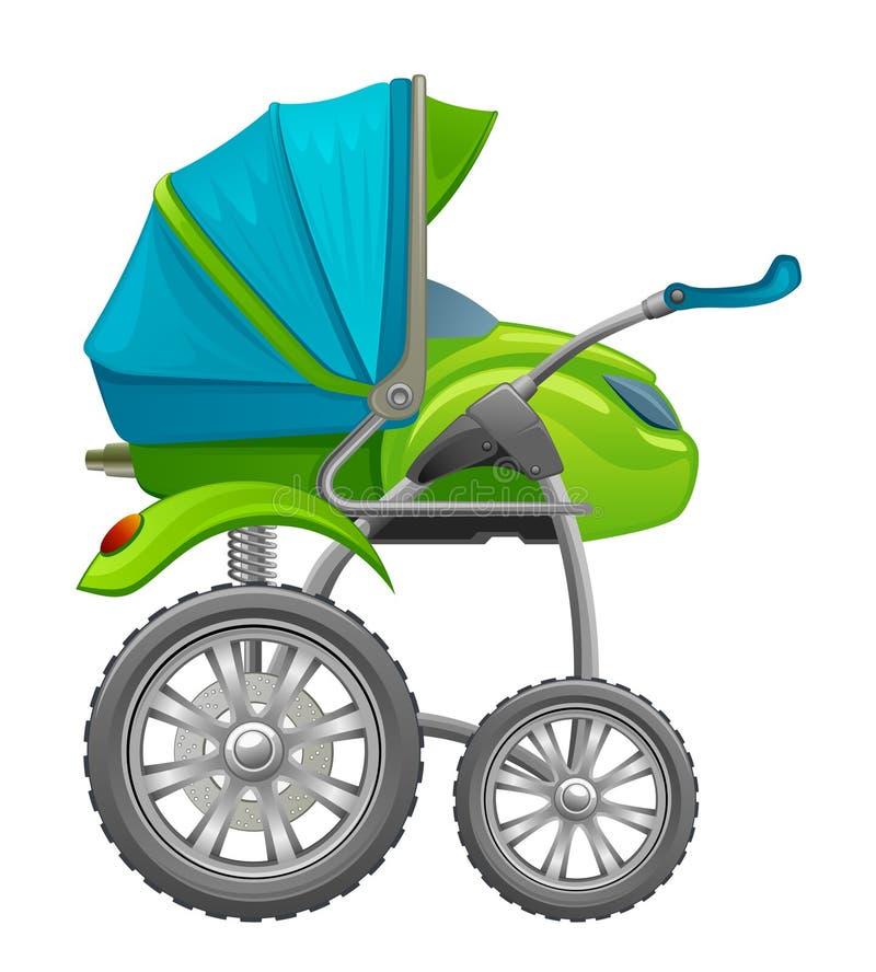 Motorisierter Baby Pram lizenzfreie abbildung