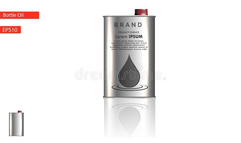 Motorisk olje- flaska på en vit bakgrund också vektor för coreldrawillustration vektor illustrationer