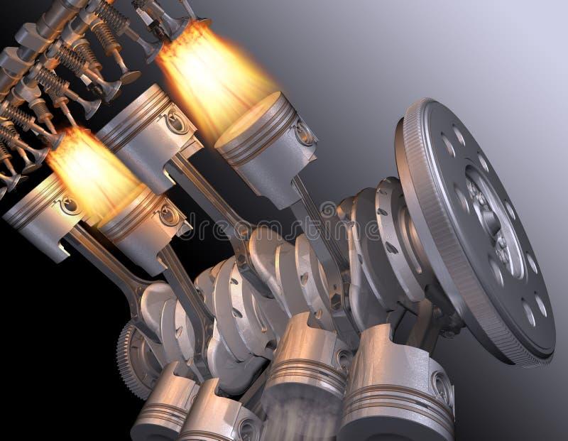 Motoriska V8. royaltyfri illustrationer
