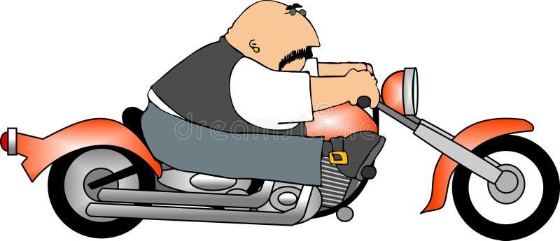 Motorista ilustración del vector