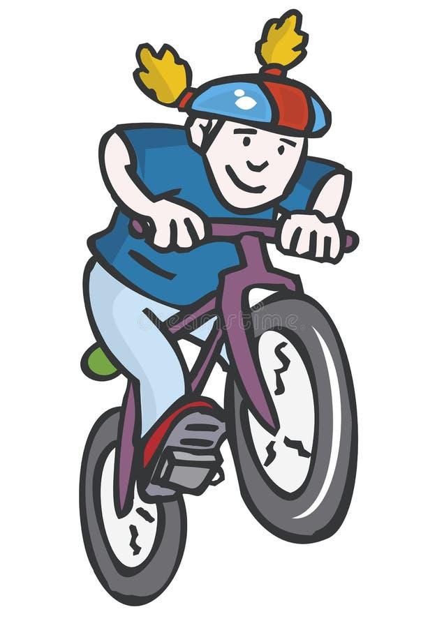 Motorista stock de ilustración