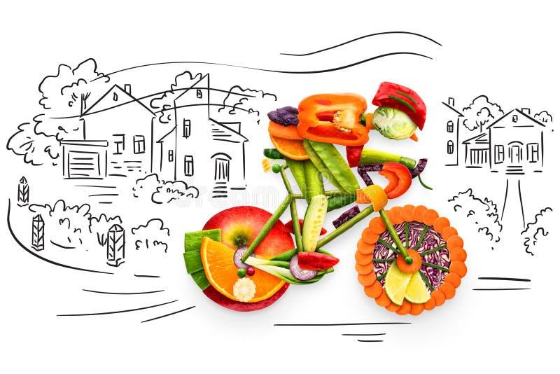 Motorista con sabor a fruta stock de ilustración