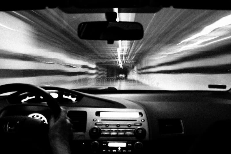 Motorista da noite imagens de stock