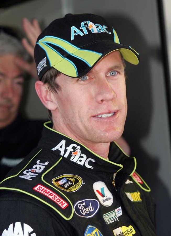 Motorista de Carl Edwards NASCAR imagens de stock