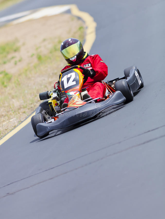 Motorista de raça do kart foto de stock royalty free