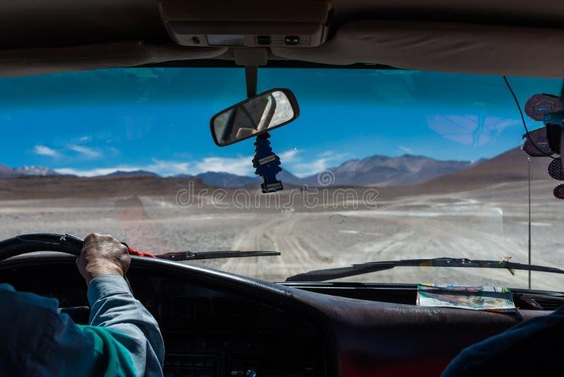 Motorista do deserto fotos de stock