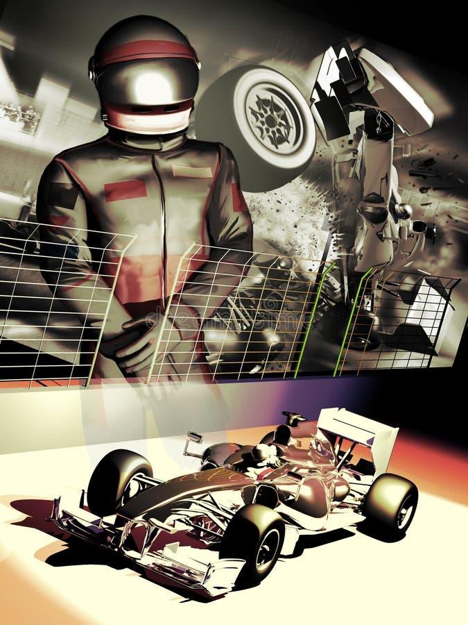 Motorista do Fórmula 1 ilustração stock