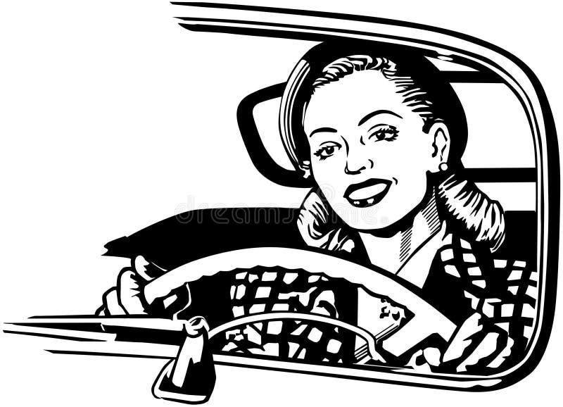 Motorista femenino ilustración del vector